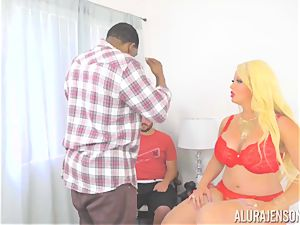 milf Alura Jenson makes her daughters-in-law bf watch as she gets fucked