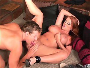 Sophie Dee hatch fucks this hard pulsating cock