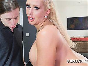 fat titty adult movie star Alura Jenson boinks a hung junior stud