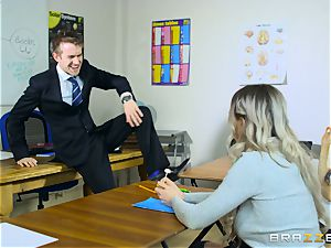 handsome schoolgirl Carly Rae gets boned by a large dicked teacher