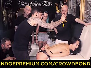 CROWD bondage - bdsm first time experience for latina