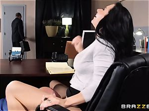 assistant Jayden Jaymes pokes on the bosses desk