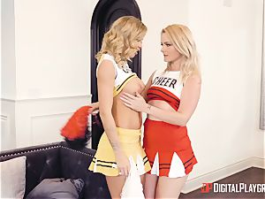 Jessa Rhodes gets nailed by dangled superhero