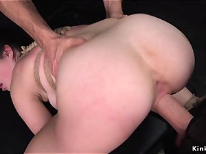 clamped puffies big-titted babe pulverized as teaching