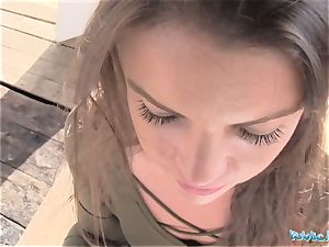 Public Agent mind-blowing schoolgirl Vany Ully creampied outdoors
