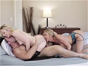 Adult masculine smashes his new wife Alexis Fawx and her daughter-in-law
