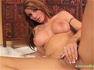 busty stepmom alone at home