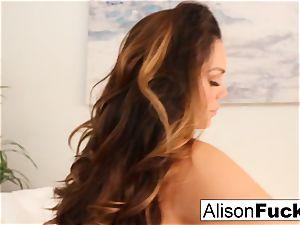 Alison Tyler caresses her beaver