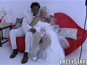 LACEYSTARR - granny bride fed with jism after nailing