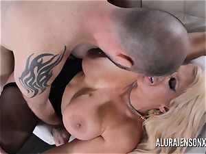 big-titted ash-blonde Alura Jenson likes a man in uniform