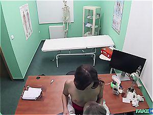 fake medical center wonderful backside patient with shaved slit