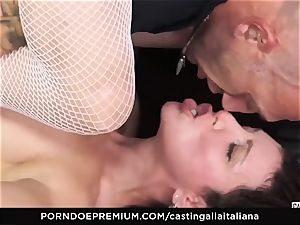 casting ALLA ITALIANA - newbie ass fucking gape and boink