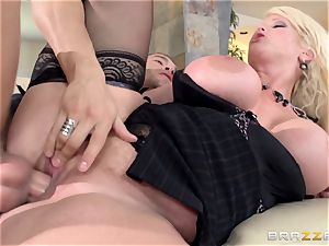 filthy mummy Alura Jensen penetrates her daughters-in-law boy