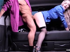 ravaged IN TRAFFIC - super hot car fuck-a-thon with brit Carly Rae