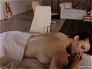 gorgeous Mimi Rogers gets her whole bod massaged