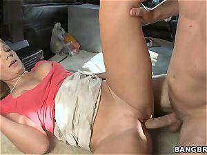 Mature blond pummeling on the BangBus