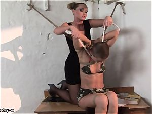 Kathia Nobili and C J stunner strapping of mitts