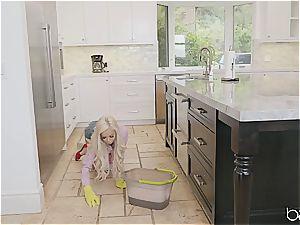wonderful maid plowed by her ebony chief