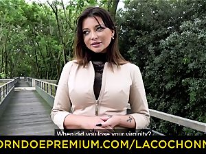 LA COCHONNE - cum in hatch and dp for Anna Polina