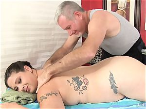 bbw Has Her body and muff massaged