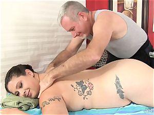 bbw Has Her body and muff massaged