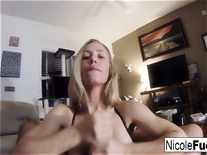 Home flick of Nicole Aniston providing a point of view blow Job