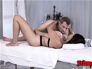 buxom latina rails spunk-pump for creampie