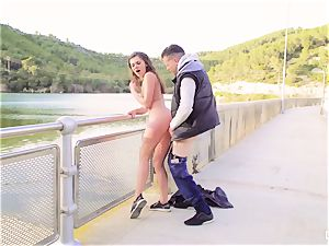 CHICAS LOCA - Russian girl tears up outdoors in Spain