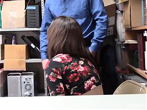 Lily Jordan luvs the security guards fuck-stick deep inwards her