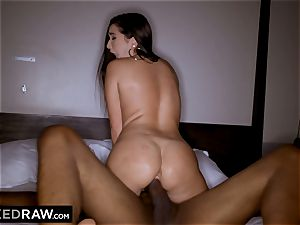 BLACKEDRAW Latina wifey squirts with 12 inch monster dark-hued jizz-shotgun