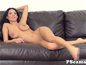 huge-chested cam beauty Anissa Kate cockriding