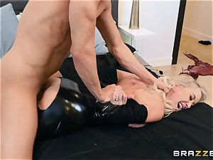 Brandi enjoy humped in her moist puss