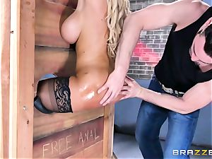 Free ass-fuck attractiveness with huge-titted Spanish senorita Bridgette B