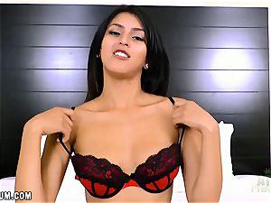 Sophia Leone in super-fucking-hot red underwear