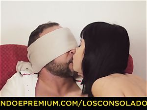 LOS CONSOLADORES - wonderful dark haired in gang hook-up fest