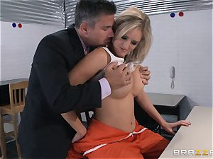 Zoey Holiday tears up the prison warden
