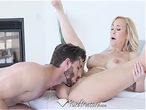 PUREMATURE cougar cunt tucked by gigantic knob