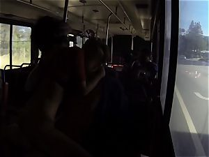 Karmen Bella smashes her dude on a crowded bus