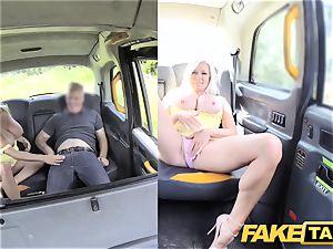 fake cab ginormous boobs ash-blonde Michelle Thorne