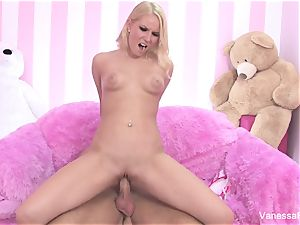 fuckfest with super-cute Vanessa cell and a fat man meat