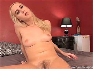 Cadence Lux Has Her husband deep-throat jizz-shotgun and lick jizz