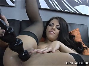 impressive Adriana Chechik brutal faux-cock blooming