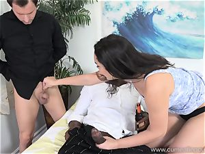 Paisley Parker Gets ebony pink cigar and husband munches Up cum