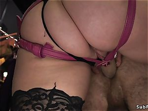 With head in cell male anal invasion drilled femdom