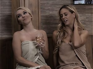inward satans Sn two steamy mummy Cherie Deville sauna smashing