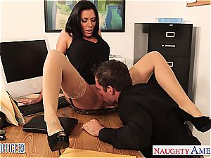 insatiable Rachel Starr insatiable for schlong at the office