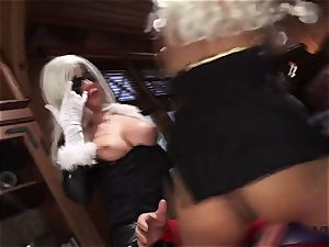 Vivid.com - three supah Villains have a insane threesome