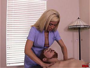 Parker Swayze total prick manage On massage Table