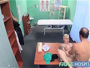 faux hospital Flirty tattooed minx requests hasty fuck-a-thon