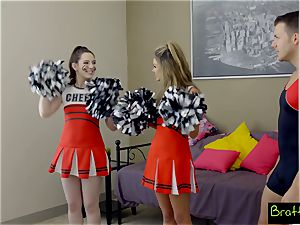 nubile cheerleader romps her stepbrother